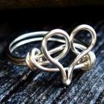 Silver Heart Ring Custom Si..