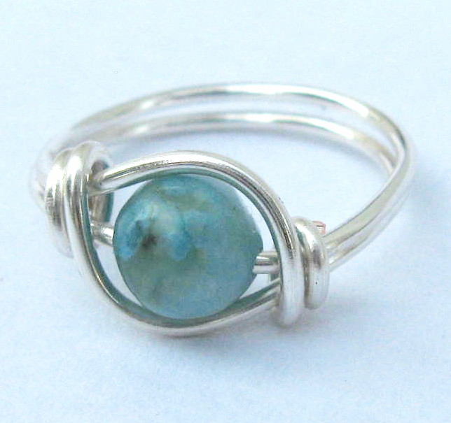 Turquoise Jasper Gemstone Ring in Silver
