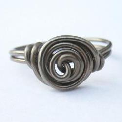 Gunmetal Rosette Ring